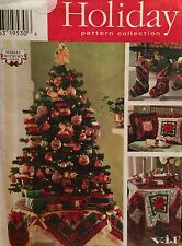 NEW & VINTAGE CHRISTMAS HOLIDAY DECORATION SEWING PATTERN 7369