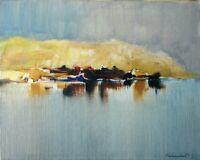 Roberto La Carrubba - Dipinto olio su tela, opera originale del '72