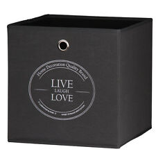 Aufbewahrung  Faltboxen Faltkisten Boxen Leinenbox Anthrazit Live-Lough- Love