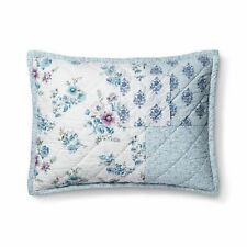 Simply Shabby Chic Blue Dascha Patchwork Cotton Standard Pillow Sham