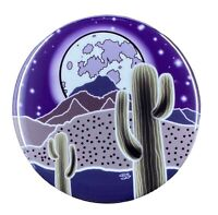 Psychedelic Cactus Moon Pinback Button Badge Metal Desert Pin Gifts Accessories