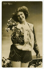 c 1910 Sexy pose Rare LADY IN SHORTS legs risque photo postcard