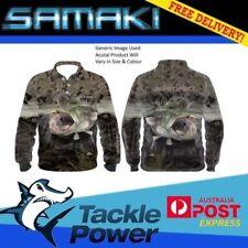Samaki Long Sleeve Fishing Shirt Camo Cod Adult Size Small Brand New UPF 50+