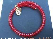 NEW ALEX and ANI VINTAGE 66 Russian GOLD RUBY RED STARLET Beaded Wrap BRACELET