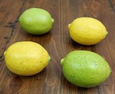 Ceramic Lemon & Lime Faux Fake Fruit Lot of 4 Kitchen Decor Staging Prop