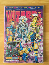 WIZARD MAGAZINE #14 1992 Sealed Polybag X-Men COVER & POSTER Cyber Force Card NM