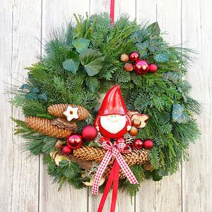 Türkranz Weihnachten Türkränze rot Weihnachtskränze Türdeko weihnachtlich