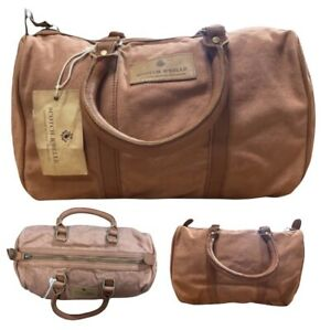 Scotch R'Belle Kids Unisex Brown Tan Canvas Holdall Leather Strap Bag One Size