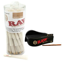 Organic RAW 1 1/4 Pre-Rolled Cones with Filter (75 Pack) with 1 1/4 Cone Shooter