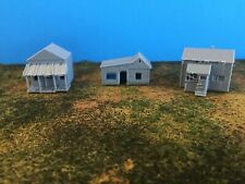 (3) Small ABANDONED HOUSES Run Down Building Set  N Scale 1:160 Trackside Shanty