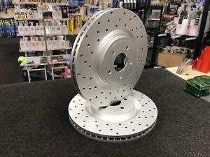 FOR INFINITI FX50 G37 M30 M37 Q60 Q70 370Z CROSS DRILLED BRAKE DISC PAD REAR