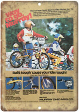 """10"""" x 7"""" Metal Sign - 1978 Murray BMX, GT, Hutch - Vintage Look Reproduction"""