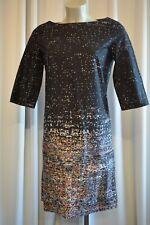 COS Damen Kleid Gr. 36 Schwarz-Bunt 3/4 Arm TOP *B331