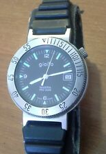 Rare  men's GIALLO MARINA PRO 100M diver quartz wristwatch, ETA runs good, 4N