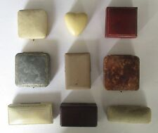 Collection of Nine (9) Small Antique Jewelry Boxes