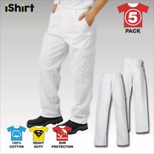 5X CARGO PAINTERS WORK PANTS TROUSERS IN 100% COTTON DRILL HEAVY WEIGHT WORKWEAR