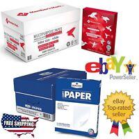 "Printer Fax Copy Paper White 8.5"" x11"" 5000 Sheets 10 Reams Case Multipurpose"
