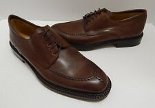 New Mezlan Mondovi 10M Burnished Cognac Brown Leather Dress Oxfords