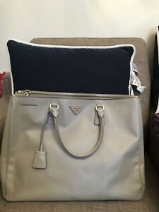 prada Saffiano Large Grey Bag