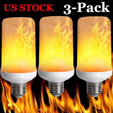 3 Pack LED Flame Effect Simulated Flicker Nature Fire Bulbs Light Decor E27 Lamp