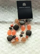 Orange and Brown Beaded Bracelets from Dorothy Perkins New