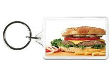 BURGER KEYCHAIN - DOUBLE SIDED ACRYLIC FOOD KEYRING