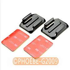 2pcs Black Curved Surface Mount 3M VHB Adhesive Sticky Set For GoPro Hero 2 3