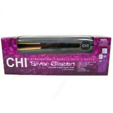 "Chi 1""Flat Iron Original Silver Glisten Ceramic+Magnified Volume+Finishing Spray"