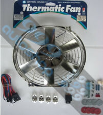 """DAVIES CRAIG 16"""" / 16 INCH CHROME THERMATIC THERMO FAN KIT RADIATOR COOL12 VOLT"""