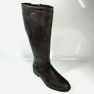New Dubarry Limerick Country Boots UK8 EU42 Brown Old Rum Zip (922 SRB)