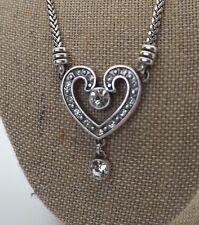 BRIGHTON Jewelry Heart Jeweled Pendant Necklace