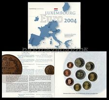 SERIE DIVISIONALE UFFICIALE ZECCA 9  MONETE EURO LUSSEMBURGO 2004 _ FDC