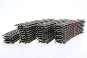 H0 Fleischmann 35x 6138 gebogene Gleise curved rails Konvolut/J46