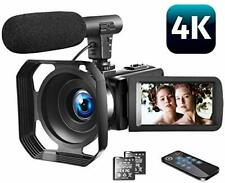Video Camera 4K Camcorder Vlogging Camera with Microphone YouTube Camera Recorde