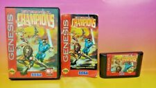 Sega Genesis Eternal Champions Tested + Working - Box, Manual, Cover Art, Game