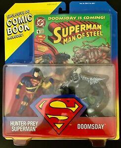 Superman Hunter Prey Figure & Doomsday Comic Kenner 1995