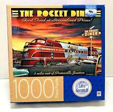 Milton Bradley Jigsaw Puzzle Larry Grossman The Rocket Diner Train Rompecabezas
