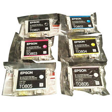 Genuine Epson T0807 Print ink cartridge T0801-T0806 Original for epson printer