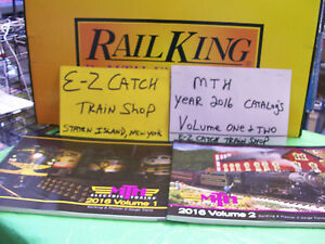 MTH Electric Model Trains BRAND NEW 2016 Volume One & Two Full Color Catalogs