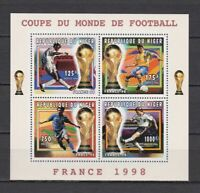 S7272) Niger 1996 MNH Wc Football '98- World Cup Football S/S