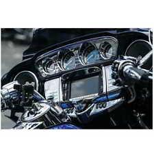 Kuryakyn  Chrome Tri Line Gauge Trim Cluster Harley Batwing Touring Trike 14-18