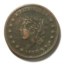 1837 Liberty - Not One Cent Satirical Hard Times Token HT# 48