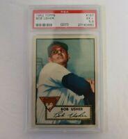 1952 Topps #157 Bob Usher Chicago Cubs PSA 5.5