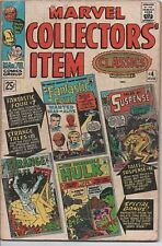 Marvel Collectors Item Classics #4 Aug. 1966 F- Comic has Hulk, FF, Iron Man etc