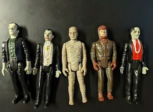 VINTAGE  1980 Remco UNIVERSAL MONSTERS lot Mummy Frankenstein Dracula wolfman