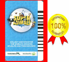 SUPER ANIMALS HUNDREDS NEW SOUND CARDS BLUE WOOLWORTHS TARONGA ORDER BY NUMBERS*