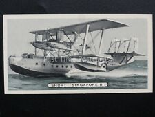 No.31 SHORT SINGAPORE III FLYING BOAT Britains Defenders by Ardath 1936