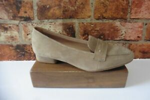 BE NATURAL BY JANA BEIGE SUEDE ALL LEATHER LOAFER SIZE UK 6 / 39 NEW