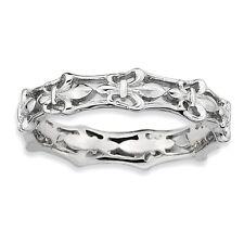 Sterling Silver Fleur De Lis Ring Size 9 #5692