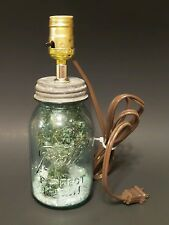 Vintage Blue Ball 1 Qr Perfect Mason Jar Lamp Light